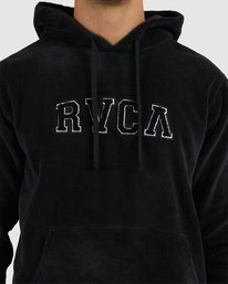 3 RVCA ARCH FUZZ HOODIE Black R118153 RVCA