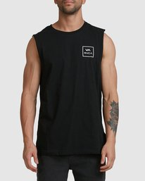 0 Va All The Way Muscle Top Black R151012 RVCA
