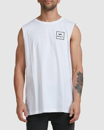 0 Va All The Way Muscle Top White R151012 RVCA