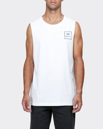 0 VA All The Way Muscle White R151012 RVCA