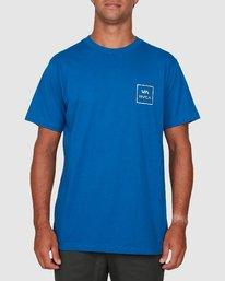 0 Va All The Ways Short Sleeve Tee Blue R172062 RVCA