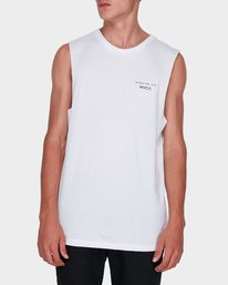 0 Byron Address Muscle White R172133 RVCA
