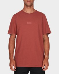 0 RVCA Focus T-Shirt Brown R181061 RVCA