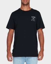 0 RVCA Between The Lines Short Sleeve T-Shirt  R182053 RVCA
