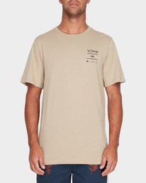 0 RVCA Between The Lines Short Sleeve T-Shirt Yellow R182053 RVCA