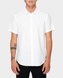 0 Crushed Short Sleeve Shirt White R182191 RVCA