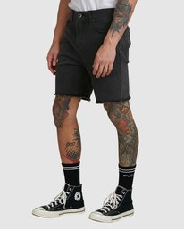 0 Rvca Rockers Walkshort - Black Fade Black R182313 RVCA