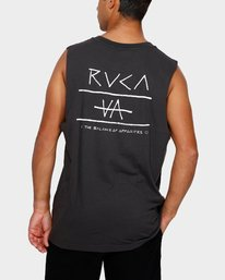 0 RVCA Split decision Muscle Black R191006 RVCA