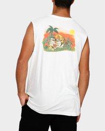 0 Jungle Muscle T-Shirt White R191013 RVCA