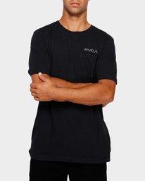 0 RVCA Keyline Pocket Tee Black R191045 RVCA