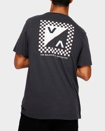 0 Check Mate T-Shirt Black R191057 RVCA