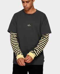 0 VA Lay Low Long Sleeve Tee Black R191093 RVCA