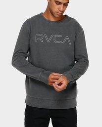 0 RVCA Pigment Crew Top Black R191151 RVCA