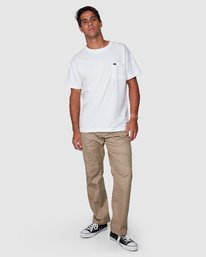 6 Recession | Americana Relaxed Fit Chino Pants Beige R191271 RVCA