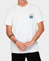 0 RVCA Unplugged Short Sleeve T-Shirt White R192041 RVCA