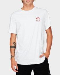 0 Down The Line Short Sleeve T-Shirt White R192043 RVCA