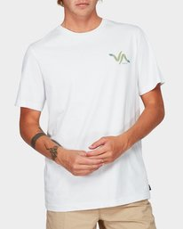 0 Snakey Snake Short Sleeve T-Shirt White R192055 RVCA