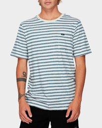 0 Vincent Stripe Short Sleeve T-Shirt  R192061 RVCA