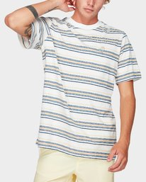 0 Southerly Stripe Short Sleeve T-Shirt White R192062 RVCA