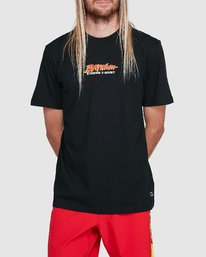 0 Sea Of Flames Short Sleeve Tee Black R192064 RVCA