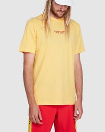 0 Chariot Of The Gods Short Sleeve Tee Yellow R192066 RVCA