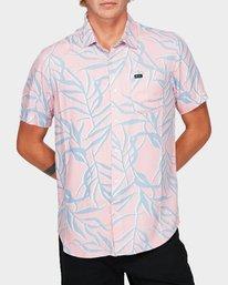 0 Paradiso Palm Short Sleeve Shirt  R192182 RVCA