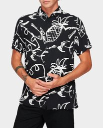 0 Scribble Palm Short Sleeve Shirt  R192184 RVCA