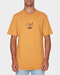 0 Pompei Short Sleeve T-Shirt Yellow R193052 RVCA