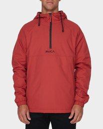 0 Easy As Half Zip Jacket Red R193433 RVCA