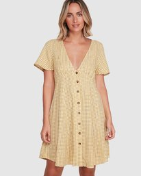 0 Hop Skip Dress Yellow R206753 RVCA