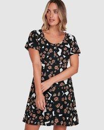 0 Floral Pop Dress Black R206767 RVCA