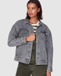 0 Slouch Dnm Jacket - Gry Stripe Grey R207440 RVCA