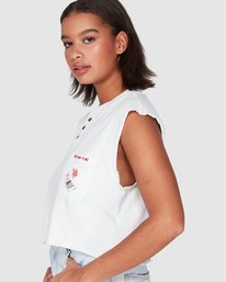 0 Light My Fire Muscle White R207661 RVCA