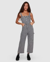 0 Overworked Stripe Overalls Grey R207751 RVCA