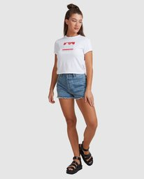 5 PACKETS BABY TEE White R217685 RVCA