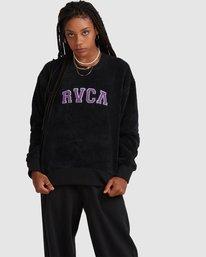 0 RVCA ARCH FUZZ CREW Black R218153 RVCA