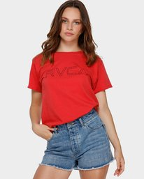 0 Keyline RVCA Box Tee Green R281692 RVCA