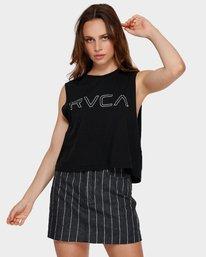 0 Keyline RVCA Muscle Black R282004 RVCA
