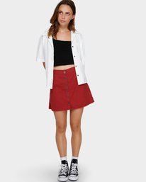 0 Shoutout Mini Skirt Brown R291833 RVCA