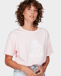 0 No Days Off T-Shirt Pink R292681 RVCA