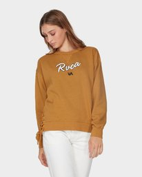0 Lace Up Crew Brown R293160 RVCA