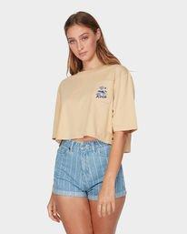 0 RVCA Island Pocket T-Shirt Yellow R293683 RVCA