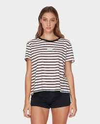 0 Patch Stripe T-Shirt Orange R293692 RVCA