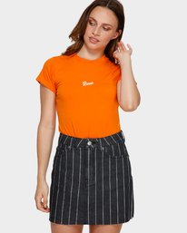 0 Flock Boy T-Shirt Orange R293694 RVCA