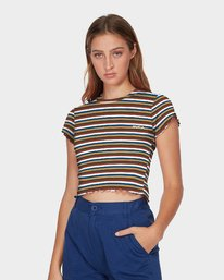 0 Let Us Stripe T-Shirt  R293703 RVCA