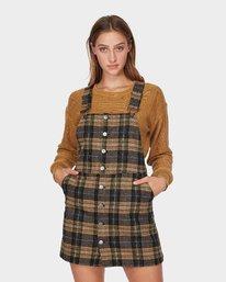 0 Woolies Plaid Pinny  R293760 RVCA