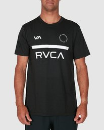 0 Mid Bar Short Sleeve Tee Black R305044 RVCA