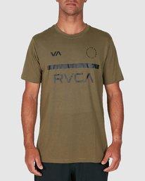 0 Mid Bar Short Sleeve Tee Green R305044 RVCA