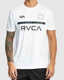 0 Mid Bar Short Sleeve Tee White R305044 RVCA