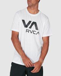 0 Va Rvca Short Sleeve Tee White R305050 RVCA